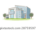手写的样式房子的例证 28759597