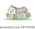 手写的样式房子的例证 28759598