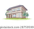 手写的样式房子的例证 28759599