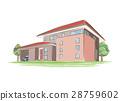 手写的样式房子的例证 28759602