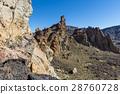 El Teide Valley with High Lava Rocks. 28760728