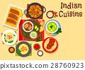 indian, cuisine, vector 28760923