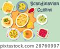 scandinavian, cuisine, vector 28760997