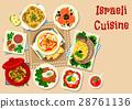 israeli, cuisine, vector 28761136