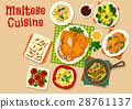 Maltese cuisine healthy food icon for menu design 28761137