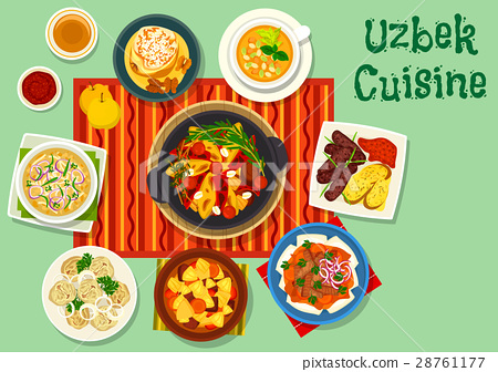 Uzbek cuisine icon for asian food design 28761177