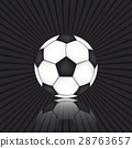 Soccer background with the ball 28763657