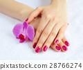 flower, hand, manicure 28766274