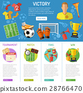 Soccer Banner and infographics 28766470