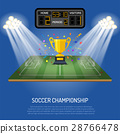 Soccer stadium with scoreboard 28766478