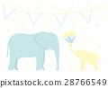 矢量 大象 父母和小孩 28766549