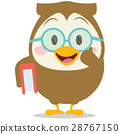 Owl with book character vector 28767150