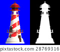 3D rendering of lighthouse isolated. 28769316