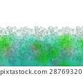 Seamless border of various sea life. 28769320