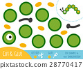 Education paper game for children, Caterpillar 28770417
