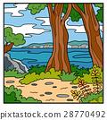 Illustration, natural background. Australian coast 28770492