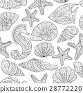 vector, pattern, sea 28772220