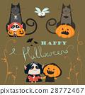 Halloween characters icon set 28772467