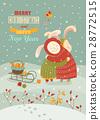 christmas, rabbit, celebrating 28772515