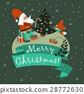 vector, christmas, Santa 28772630