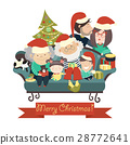 vector, christmas, family 28772641