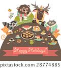 Cute animals celebrating holidays 28774885