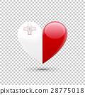Maltese Flag Heart Icon 28775018