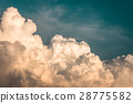 large clouds before a storm, natural background 28775582