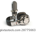headphone, microphone, isolated 28775663