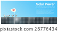 Energy concept background with solar panel 28776434