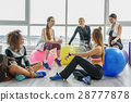 Laughing group of sportive women 28777878