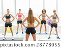 Group of young sportive women 28778055