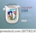 USA Porthole Background 28778214