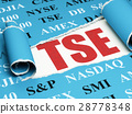 Stock market indexes concept: red text TSE under 28778348