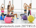 Happy sportive women in gym 28778515