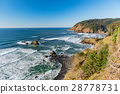 Picturesque outlook of cliff washing by ocean 28778731