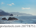 Pleasant view of rocks bounding by water 28778751