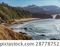 Fine view over coastline near rocks 28778752