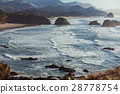 Attractive outlook of mountain washing by ocean 28778754