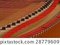 Close up of grand piano strings 28779609