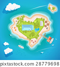 Heart island top aerial view - travel tourism 28779698