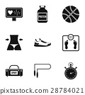 workout, icon, vector 28784021