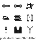 sewing, icon, set 28784062