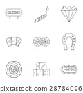 gambling, icon, vector 28784096