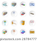 Parking items icons set 28784777
