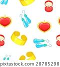 Jewelry pattern, cartoon style 28785298