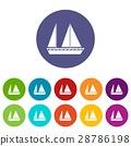 一組 帆船 航海 28786198