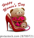 Happy Womens Day. 8 March greeting card 28789721