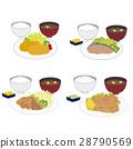 Set meal set illustration 28790569