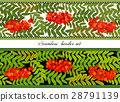 Border of bunches rowan and leaves. Seamless 28791139